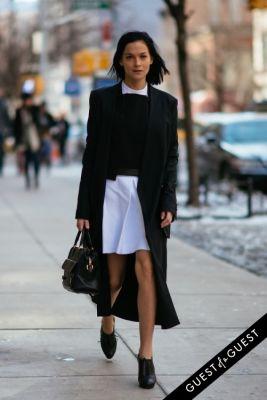 leigh lezark in NYFW Street Style Day 4