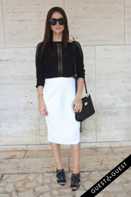 lena lademann in NYFW Style From the Tents: Street Style Day 4