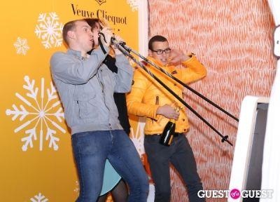 levi joseph-wonder in Veuve Clicquot Champagne celebrates Clicquot in the Snow