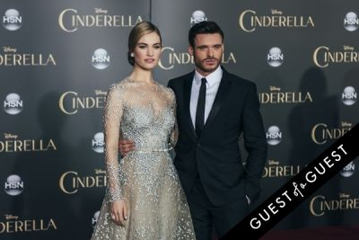 lily james in Premiere of Disney's