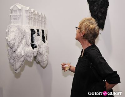 linda cunningham in Ronald Ventura: A Thousand Islands opening at Tyler Rollins Gallery