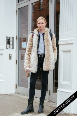 lydia chanel-hunt in NYFW Street Style Day 3