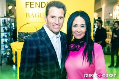 mark and-nj-goldston in Baguettemania: Fendi + Maxfield Celebrate The Baguette
