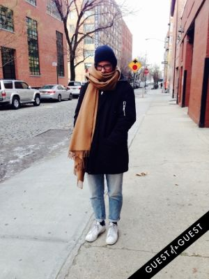 marki becker in NYC Street Style Winter 2015