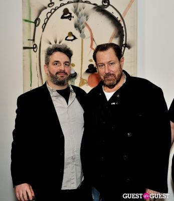 julian schnabel in Port and Out of Context Exhibition Opening