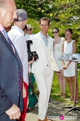 matthew mcconaughey in Veuve Clicquot Polo Classic 2013