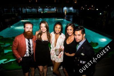 morgan evans in Design Army X Karla Colletto Pool Party