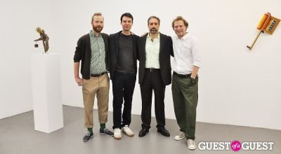 adam cohen in Daniel Mort - Obliquity opening at Charles Bank Gallery