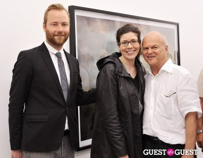 michael bank-christoffersen in Kim Keever opening at Charles Bank Gallery
