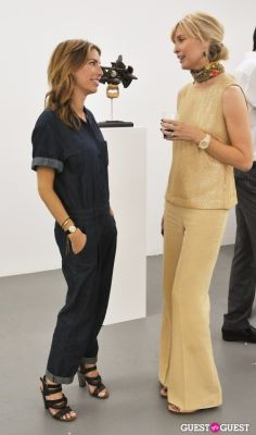 ulrika talling-smith in Daniel Mort - Obliquity opening at Charles Bank Gallery
