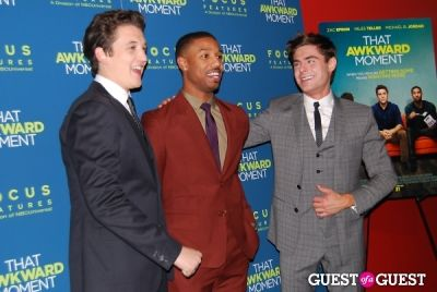 zac efron in That Awkward Moment Premiere