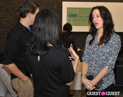 mindy lyons in Continental VIP Lounge from Chase media preview event