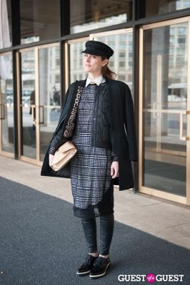 morgan gibbons in NYC Fashion Week FW 14 Street Style Day 7