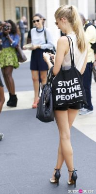 natalie decleve in NYFW Day 2 Street Style At The Tents