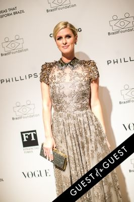 nicky hilton in Brazil Foundation XII Gala Benefit Dinner NY 2014