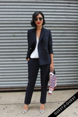nicole warne in NYFW Style From the Tents: Street Style Day 8