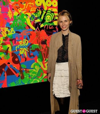 oh land in Ryan McGinness - Women: Blacklight Paintings and Sculptures Exhibition Opening