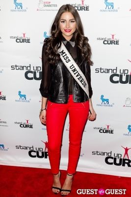 olivia culpo in Stand Up for a Cure 2013 with Jerry Seinfeld