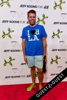 perez hilton in Jeff Koons for H&M Launch Party