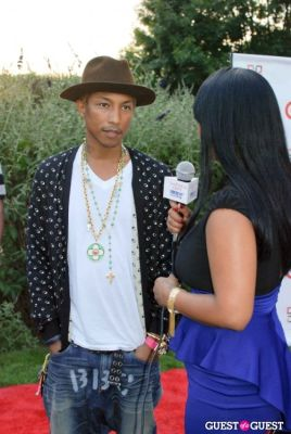 pharrell in New Orleans in the Hamptons