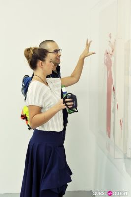 polina stroganova in Mauro Bonacina exhibition opening reception