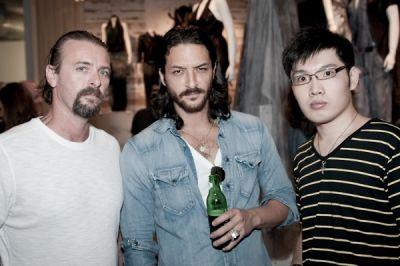 david hsu in Blue Logan for Improvd Fashion Illustration Exhibition