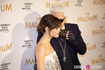 karl lagerfeld in Tribeca Film Festival - Karl Lagerfeld & Rachel Bilson