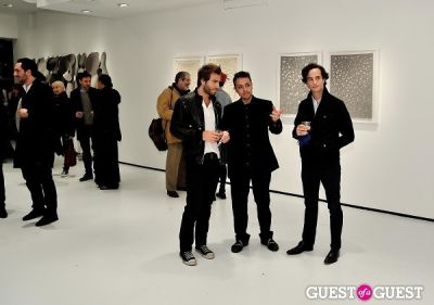 "mael mitterrand in Ricardo Rendon ""Open Works"" exhibition opening"
