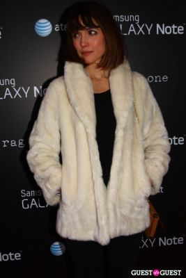 rose byrne in AT&T, Samsung Galaxy Note, and Rag & Bone Party