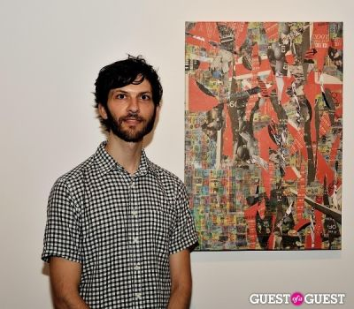 ryan russo in Inglorious Materials exhibition opening at Charles Bank Gallery