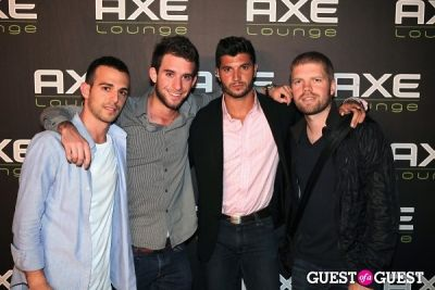 brian mazza in AXE Lounge at Dune with Morgan Page & Clinton Sparks