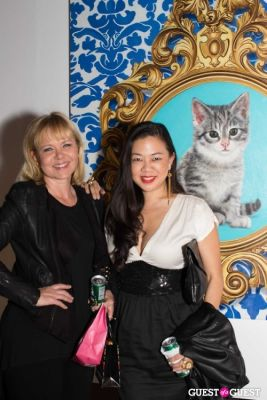 donna lew in Cat Art Show Los Angeles Opening Night Party at 101/Exhibit