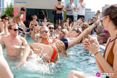 sam glen in Pool Party with Gab + AB