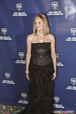 sharon stone in NYC POLICE FOUNDATION GALA