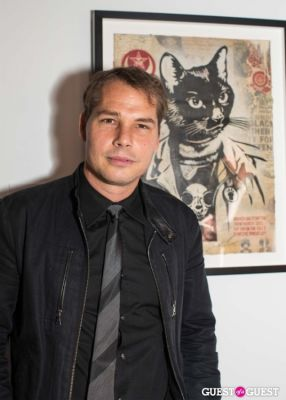 shepard fairey in Cat Art Show Los Angeles Opening Night Party at 101/Exhibit