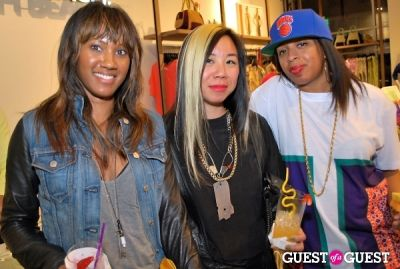 janine lai--center- in United Colors of Benetton and PAPER Magazine celebrate the launch of new Benetton