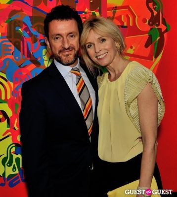 ulrika talling-smith in Ryan McGinness - Women: Blacklight Paintings and Sculptures Exhibition Opening