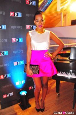 solange knowles in NPR's WHCD Friday Night Spin Party