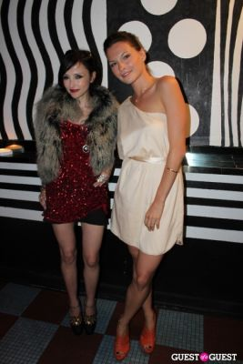 jill flint in M.A.C alice + olivia by Stacey Bendet Collection Launch