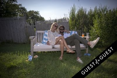 steph jensen in GUEST OF A GUEST x DOLCE & GABBANA Light Blue Mediterranean Escape In Montauk