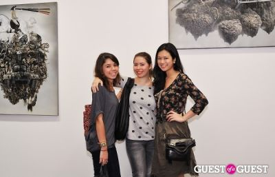 stephanie corcellut in Ronald Ventura: A Thousand Islands opening at Tyler Rollins Gallery