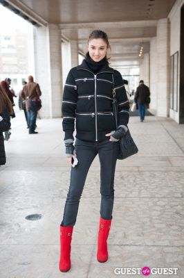 tamara omel in NYC Fashion Week FW 14 Street Style Day 7