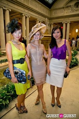 tana chung in The Frick Collection Garden Party