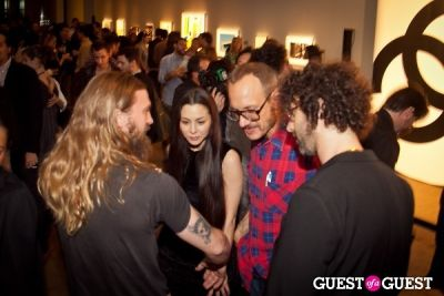 terry richardson in Chanel x RxArt Cocktail Party