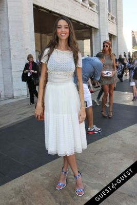 thania peck in NYFW Style From the Tents: Street Style Day 1