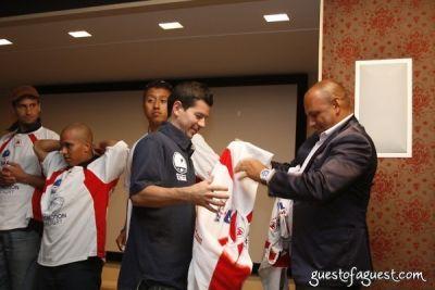 liya kebede in USA Homeless Soccer Team Jersey Presentation at Cipriani Wall Street