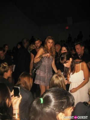whitney port in NYFW: Charlotte Ronson Spring 2012