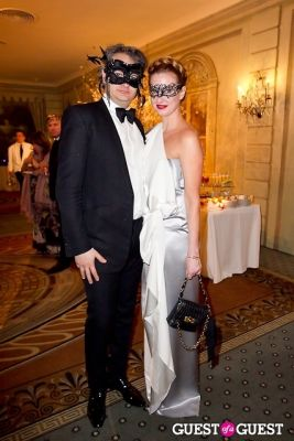 polina proshkina in Save Venice's Un Ballo in Maschera – The Black & White Masquerade Ball