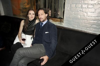 zani gugelmann in Fausto Puglisi celebrates his Emanuel Ungaro FW15 Collection with an intimate dinner at Wallse
