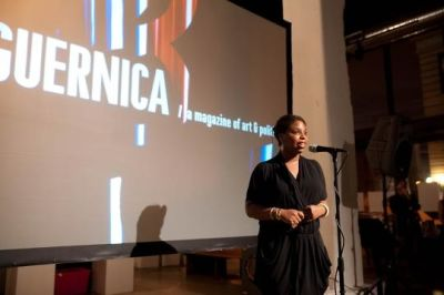 zina saro-wiwa in Guernica Magazine 5 Year Bash